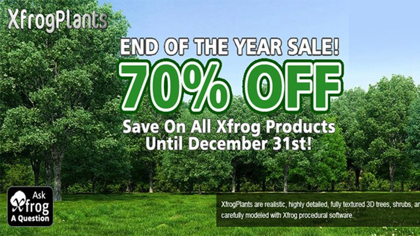XFrog 70% off and 148 free model