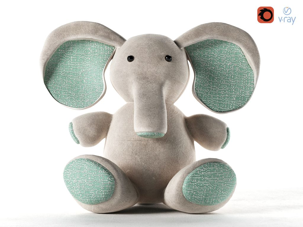 Elephant toy render1 treddi.jpg
