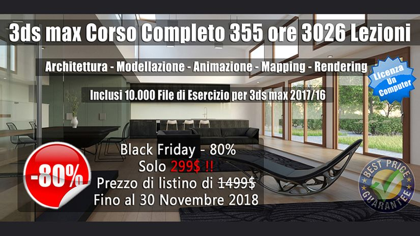 Promo Black Friday: Corso 3ds max Learning Station
