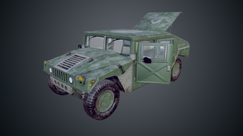 Hummer M998 HMMWV - Low Poly