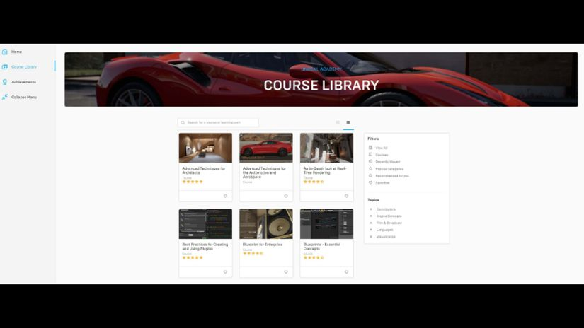 Unreal Engine Learning Portal si rinnova