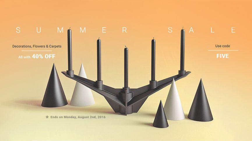 Designconnected Summer Sale: Decorazioni, Fiori e Tappeti