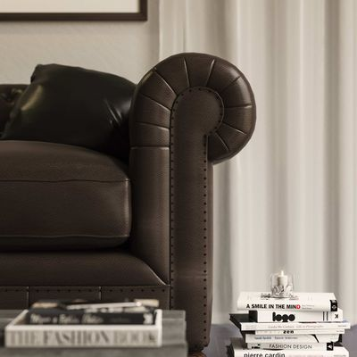Detail version armchair chesterfield render Corona