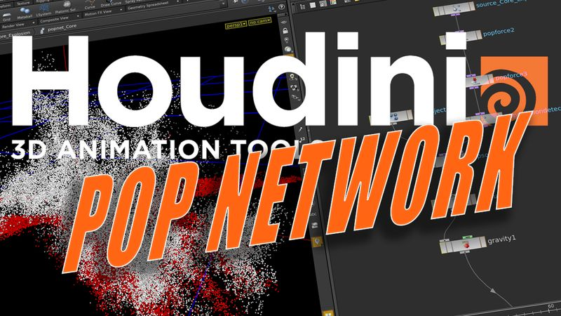 Tutorial SideFX Houdini - POP Network (Particles Houdini 15)