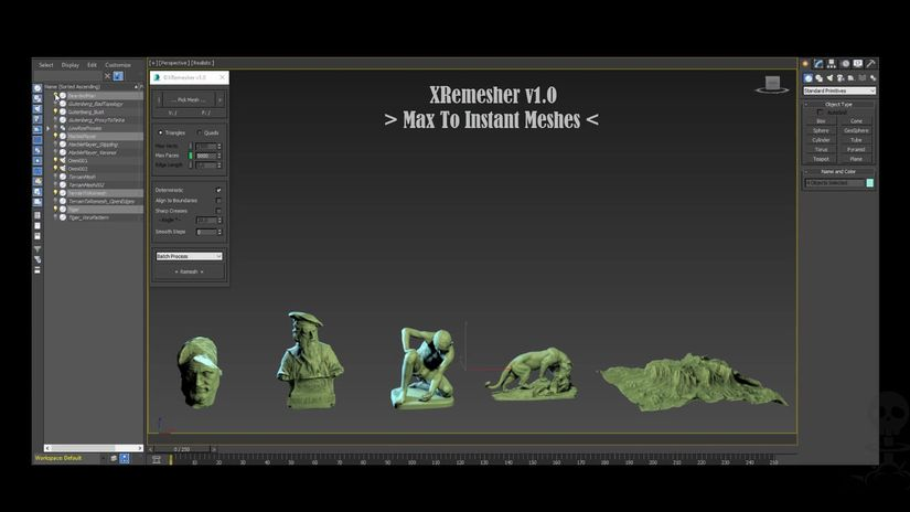 XRemesher: retopology facile e gratuito per 3ds Max