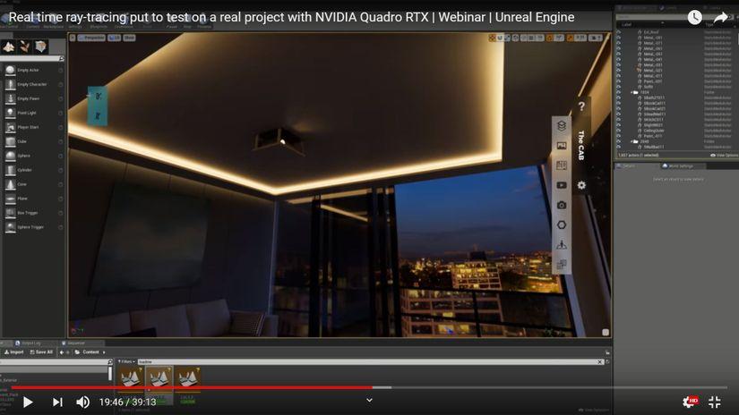 Ray Tracing Real Time per Visualizzazione Architettonica - il webinar di Unreal Engine