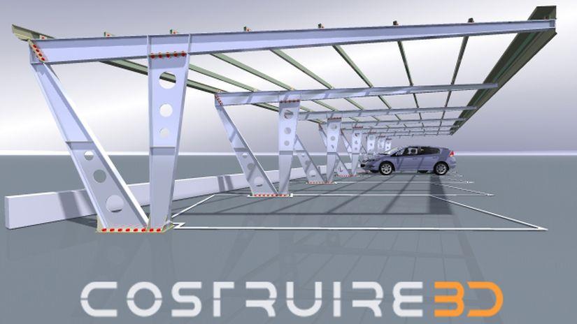Costruire3D - Modelli cad 3D di carpenterie in acciaio e legno.