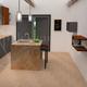 Rendering di una cucina con isola