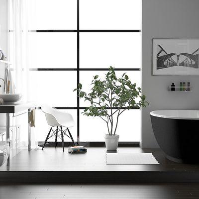 Zen bathroom scene