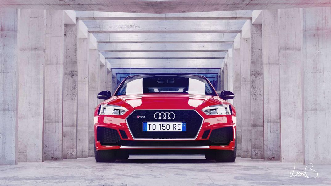 Studio lighting/shading - Audi RS5 2018