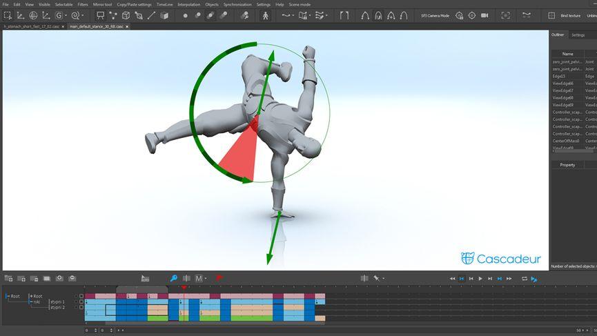 Cascadeur - Physics-based character animation