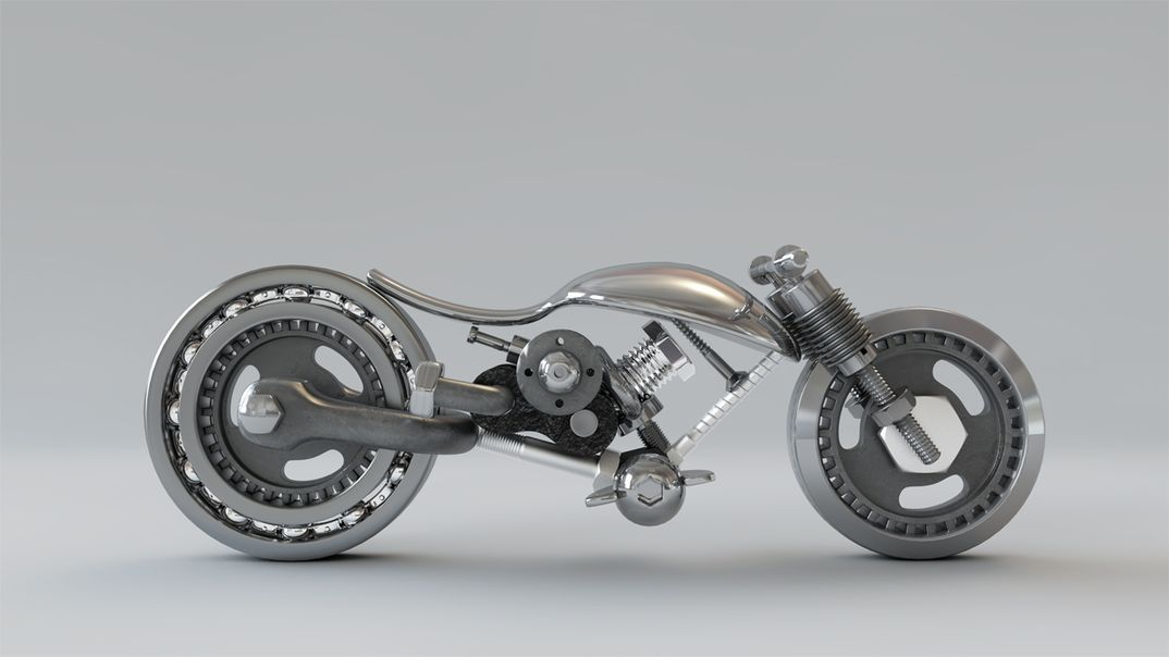 Motorcycle Sculpture1