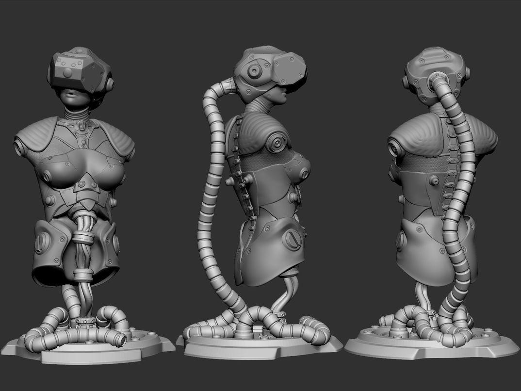 Sci-fi Bust 3d printing
