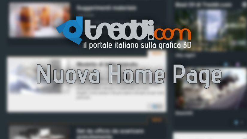 E' online la nuova Home Page di Treddi.com