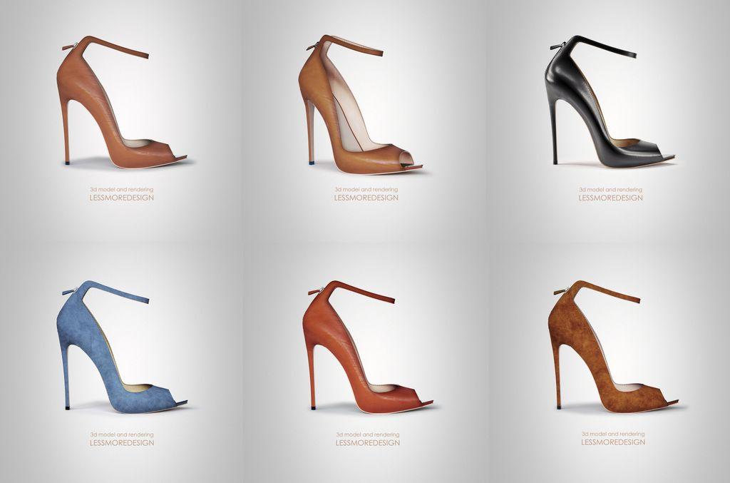 collezione virtuale scarpa donna tacco alto