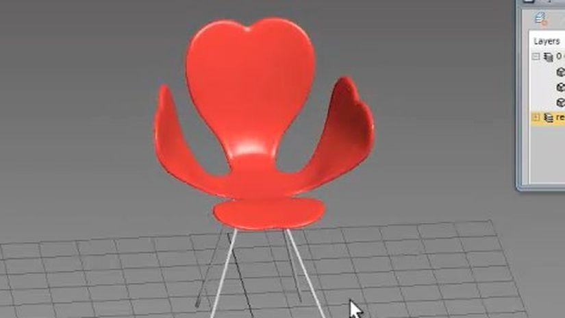 Modellazione della sedia Fortuna