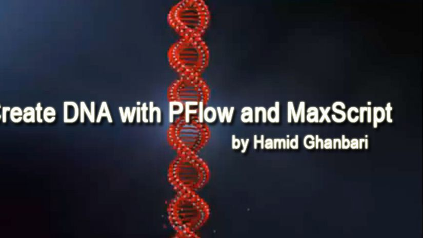 Create DNA with PFlow and MaxScript