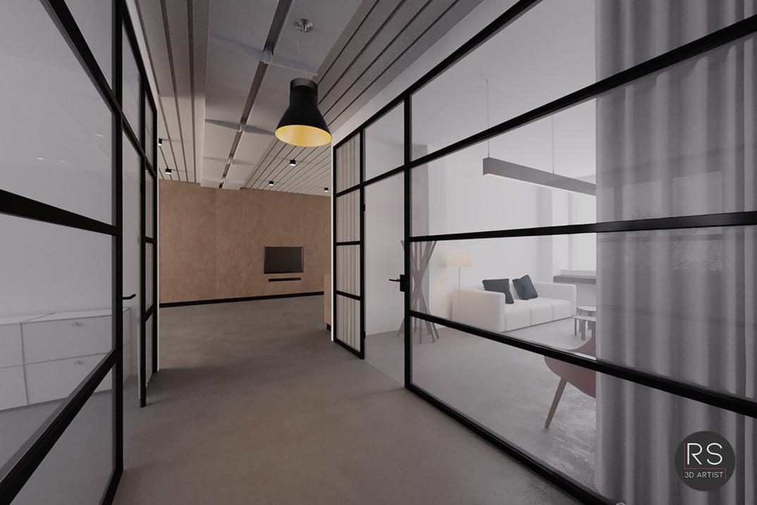 Hallway between offices