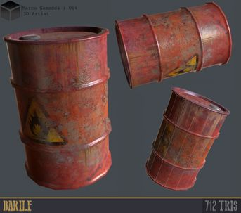 Simply Props Barrel for Game