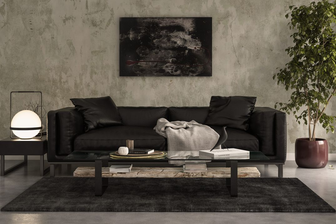 Visualization Personal Leather Sofa Render Vray