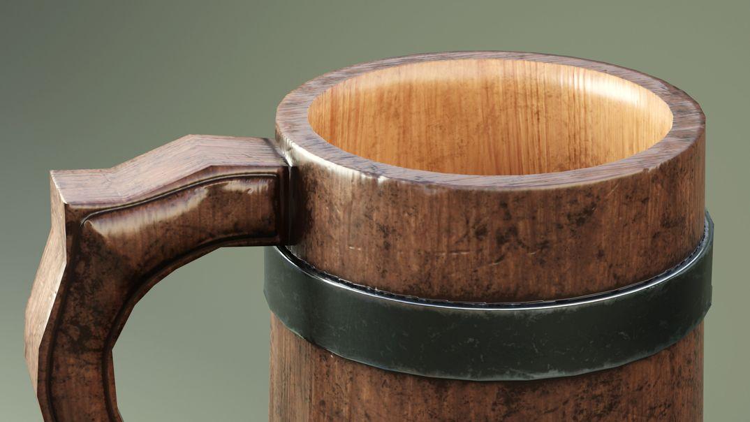 Medieval Mug lowpoly