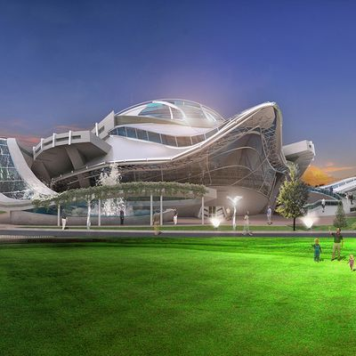 Concept project of a sports complex camp for children
