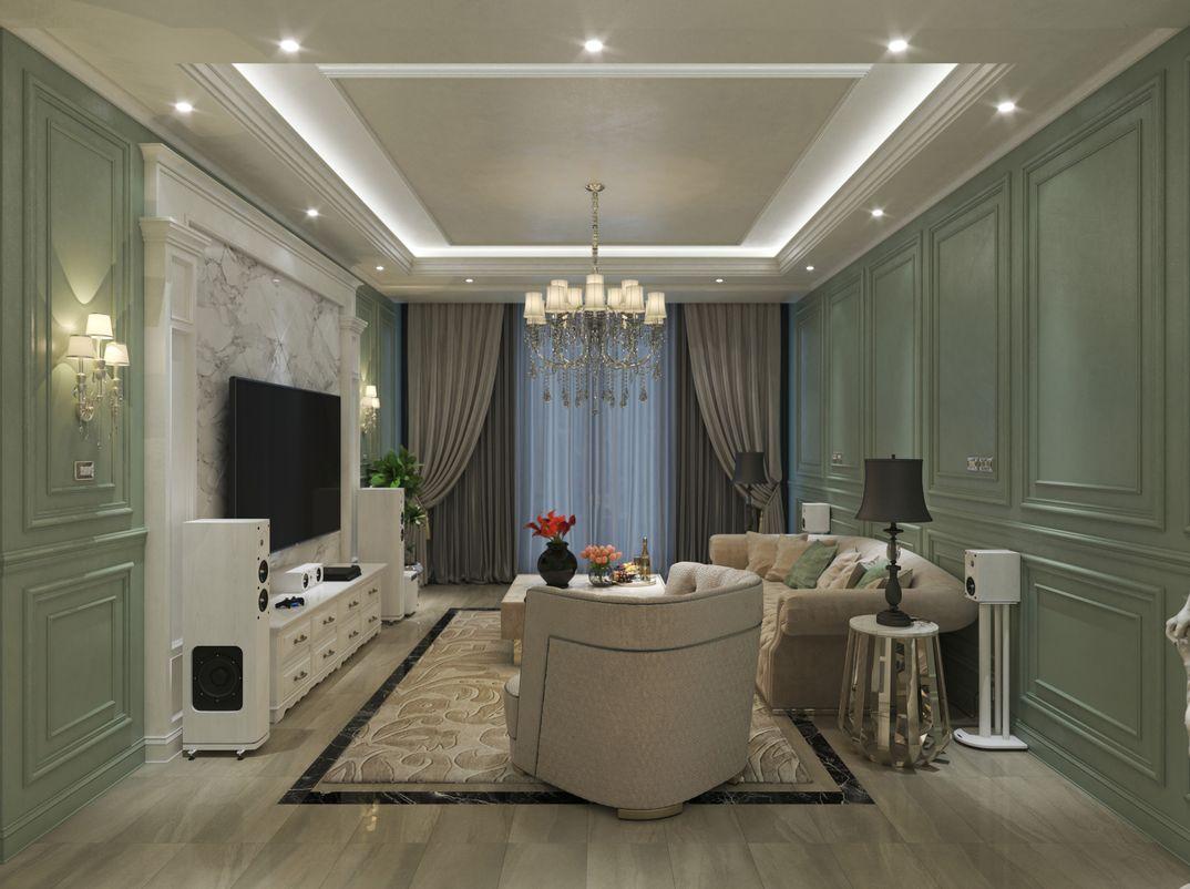 living room neoclassica