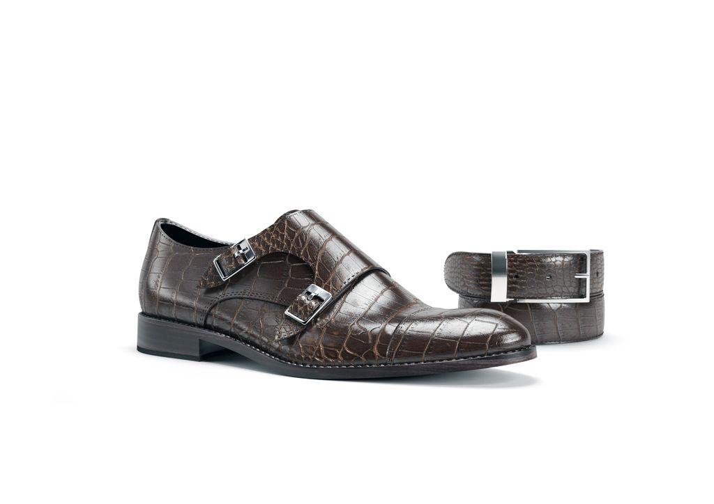 scarpa uomo doppia fibbia