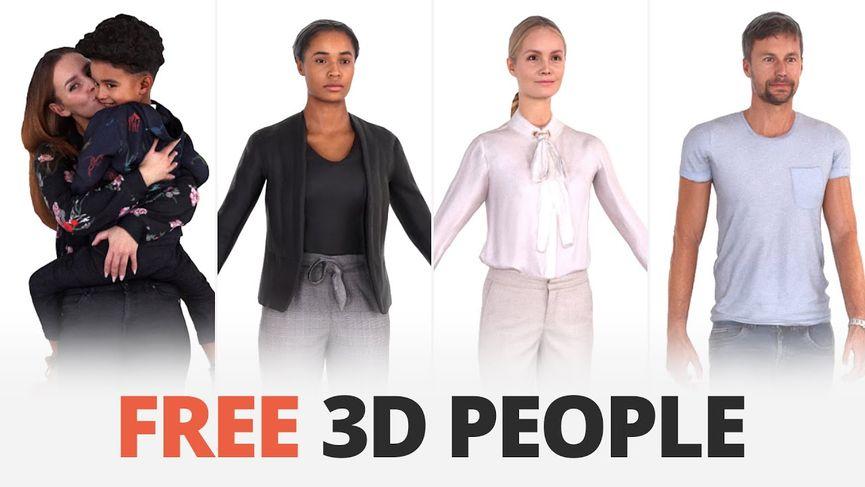 Nuovi personaggi 3D da scaricare gratuitamente