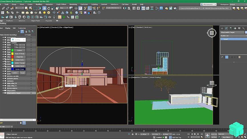 Tutorial: Impostare un render di esterno con 3DS Max