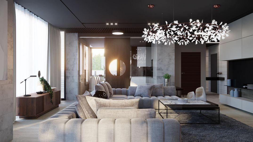 Privat house, living room