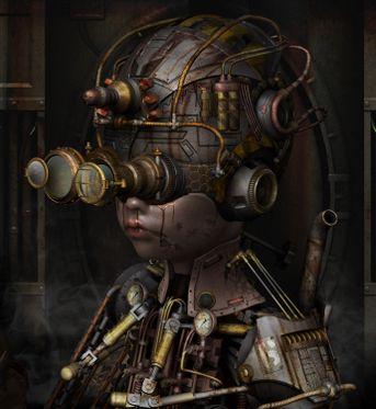 Steampunk-mecanic--baby