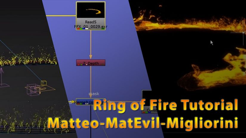 How to create a ring of fire using 3DSMax, FumeFx and Nuke