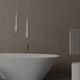 Rendering di un bagno minimalista