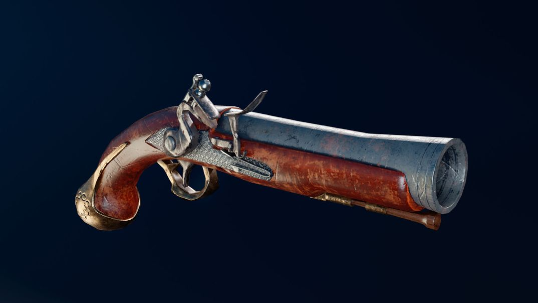 Flintlock Pistol lowpoly