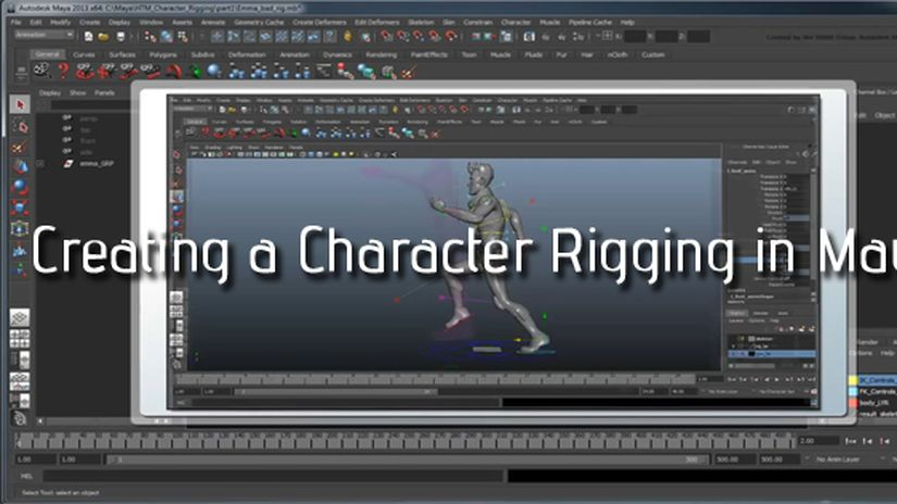 Creating a Character Rig in Maya