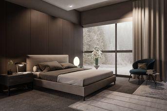 Minotti bedroom render vray