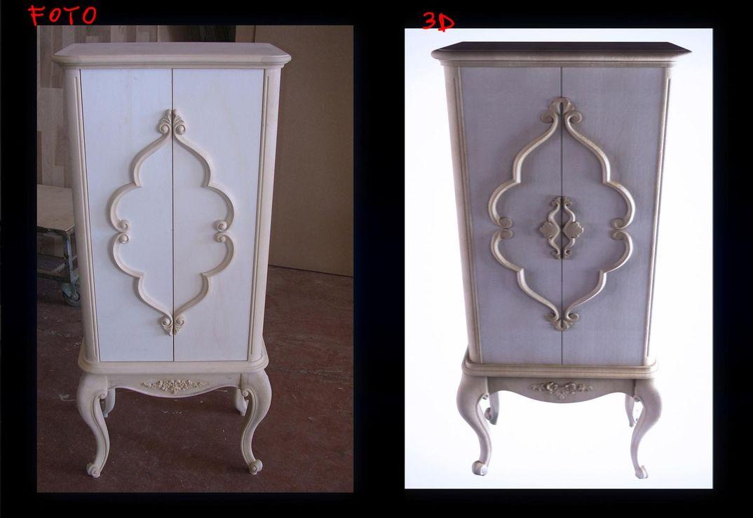 Modellazione scansione mobilio classico