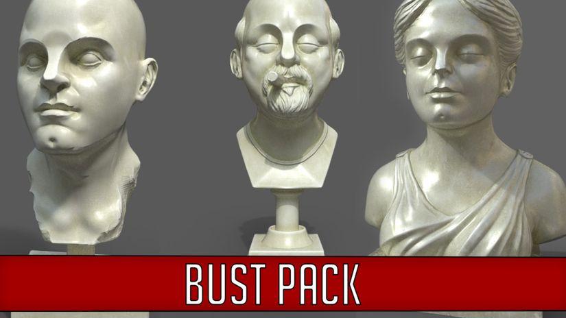 Set di busti 3D da scaricare gratuitamente