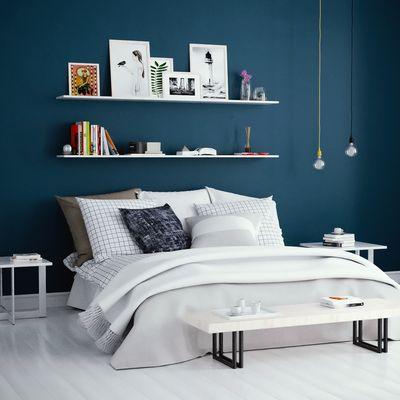 Interior bedroom scene